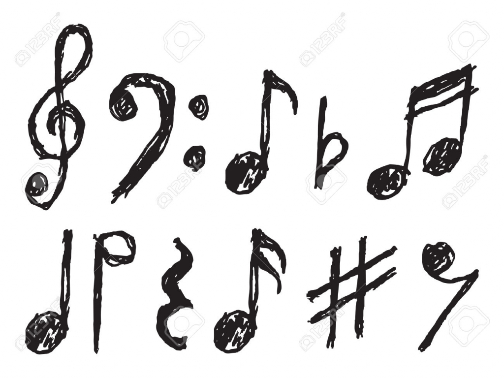 1024x768 How To Draw A Music Note Music Notes Clipart Clipart Panda Free