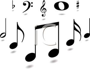 300x230 Best Black And White Music Notes