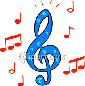 296x300 Music Notes And A Treble Clef Symbol