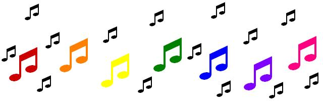 640x204 Music Notes Clipart Rainbow