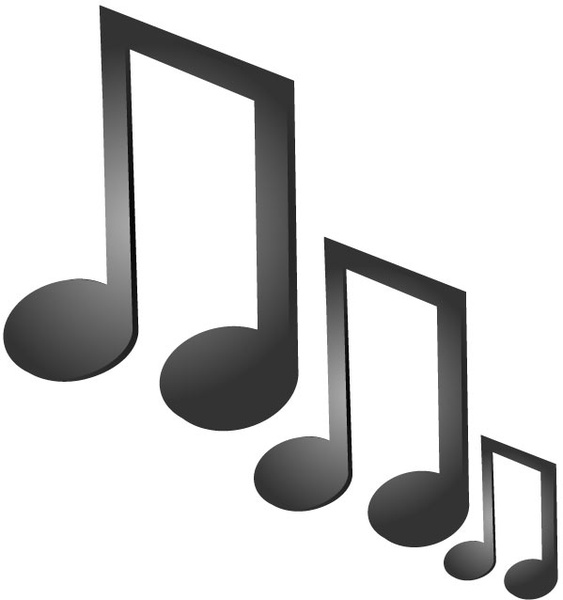 563x600 Music Notes Free Vector In Adobe Illustrator Ai ( Ai ) Vector