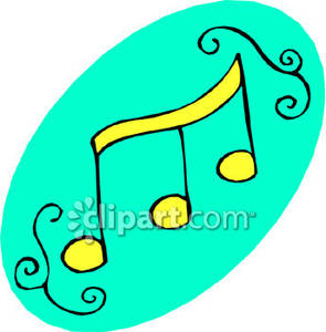 295x300 Yellow Music Notes