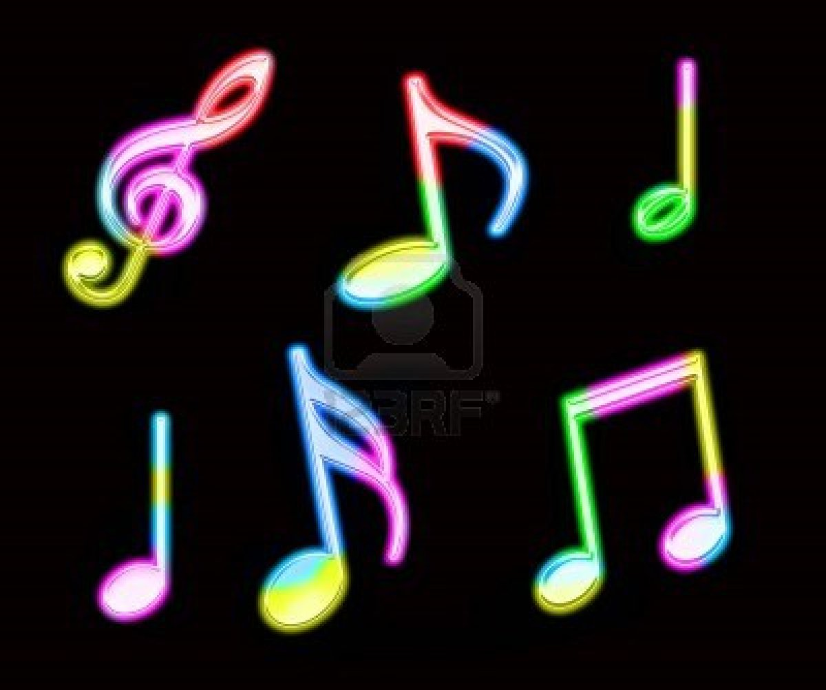 1200x1002 Colorful Music Notes Neon Clipart Panda