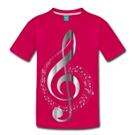 190x190 Chrome Musical Notes Typography No Background T Shirt Spreadshirt