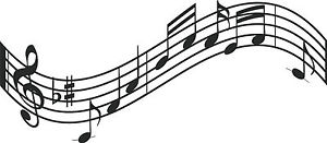 300x131 Music Notes Wall Decal Curved Music Staff Large 22 X 50 Ebay
