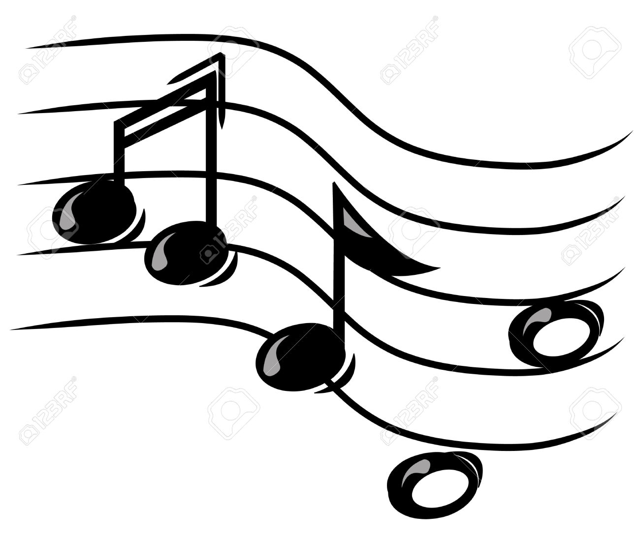 1300x1092 Music Notes On A Staff Clipart Amp Music Notes On A Staff Clip Art