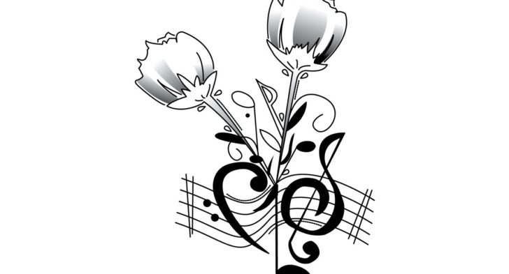728x393 Music Notes With Stars Tattoo Designs Music Notes Star Tattoo