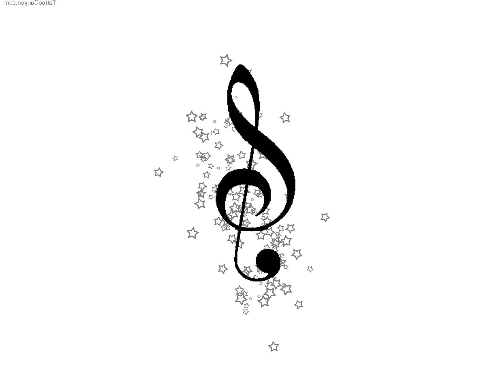 1600x1200 Music Notes With Stars Tattoo Designs Music Star Tattoo Design