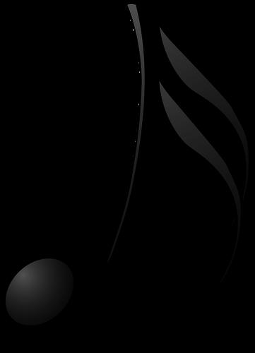 361x500 Quaver Musical Note Vector Drawing Public Domain Vectors