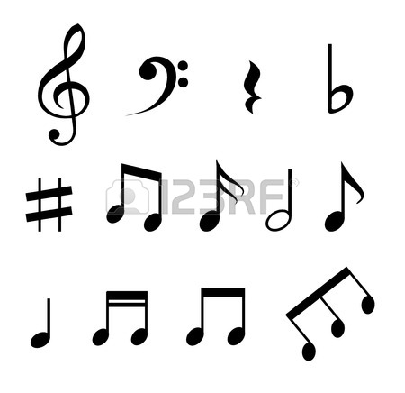 450x436 Set Of Various Black Musical Note Icon Isolated On Transparent