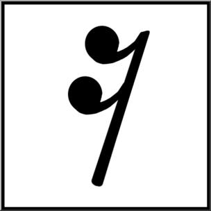 304x304 Clip Art Music Notation Sixteenth Rest Bampw Unlabeled I Abcteach