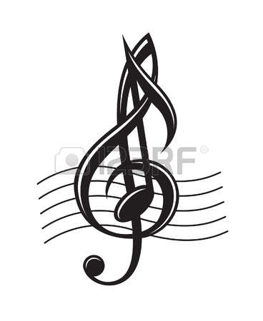 368x450 Music Notes Clipart Row
