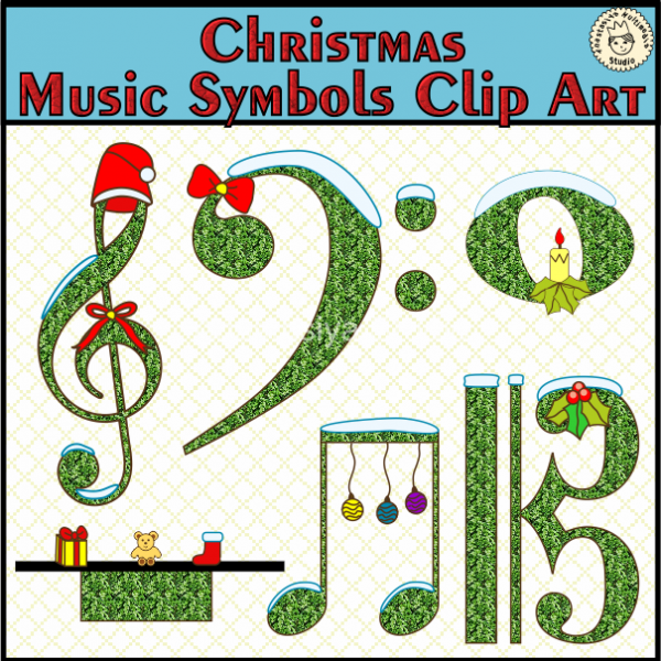 600x600 Christmas Music Symbols Clip Art Anastasiya Multimedia Studio