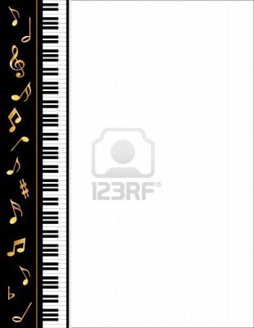 500x645 Piano Keys Border Clip Art
