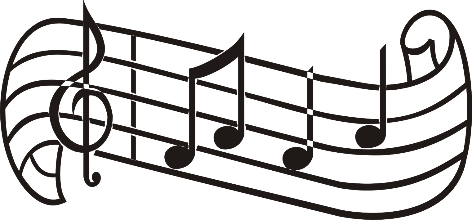 1522x709 Music Notes Clip Art Inderecami Drawing