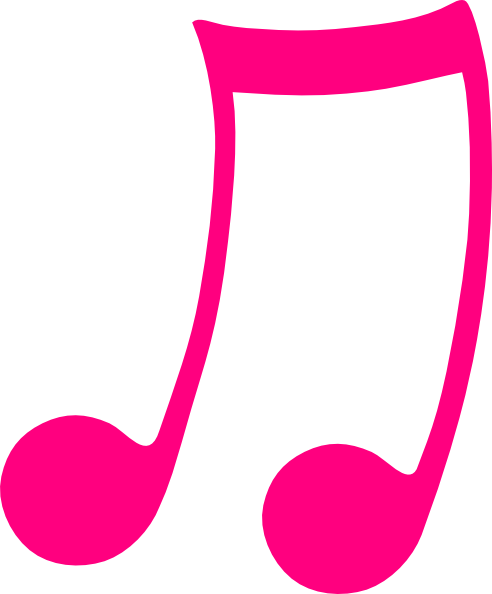 492x594 Pink Musical Note Clip Art