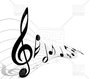400x320 Treble Clef With Musical Notes Royalty Free Vector Clip Art Image