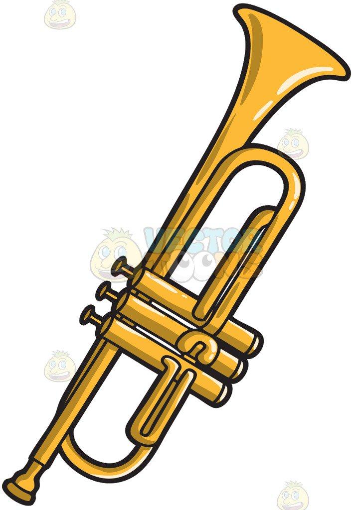 708x1024 A Musical Instrument Called The Trumpet Cartoon Clipart