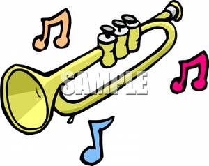 300x238 Art Image Music Notes And A Trumpet