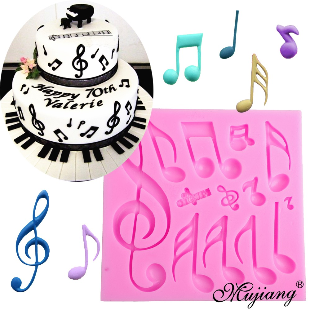 1000x1000 Diy Music Notes Cake Border Silicone Molds Birthday Wedding