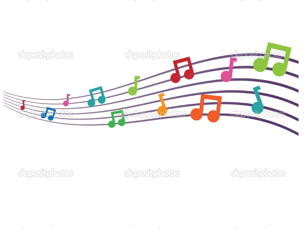 1024x768 Music Notes Clipart Colorful Music Staff
