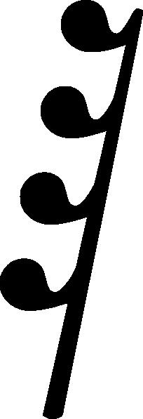204x597 Music Symbol Rest Clip Art