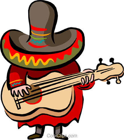 427x480 Mexican Music Royalty Free Vector Clip Art Illustration Peop2712