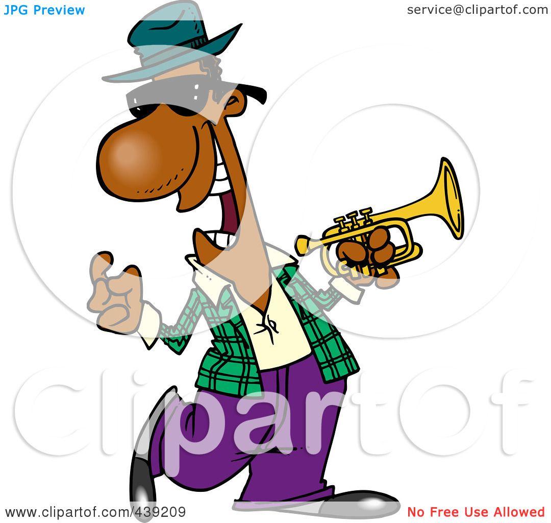 1080x1024 Royalty Free (Rf) Clip Art Illustration Of A Cartoon Jazz Musician