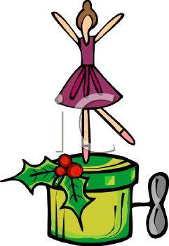 241x350 Royalty Free Clip Art Image Christmas Ballerina Music Box