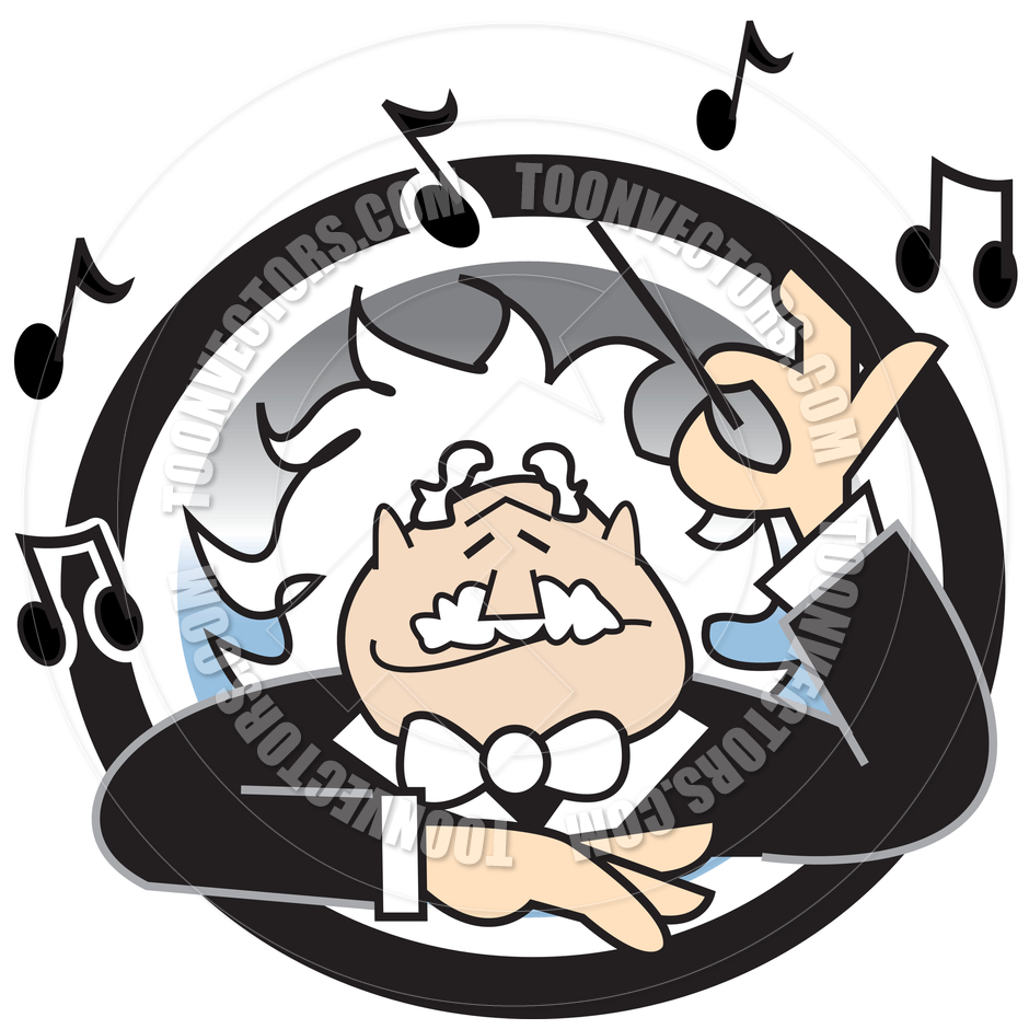 940x940 Cartoon Music Conductor Vector Illustration By Clip Art Guy Toon