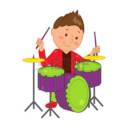 450x450 Cartoon Musician Kid. Vector Illustration For Children Music