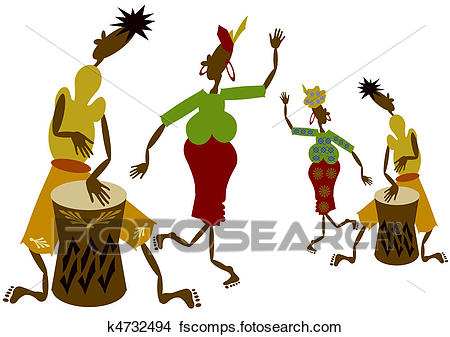 450x337 Drawings Of African Musicians K4732494