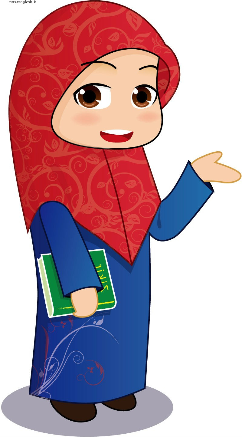800x1444 Cartoon Drawings Of Muslim Girls A Cute Muslim Girl Cartoon