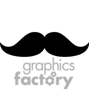 300x300 Fat Mustache Black And White Clipart Fat, Clip Art