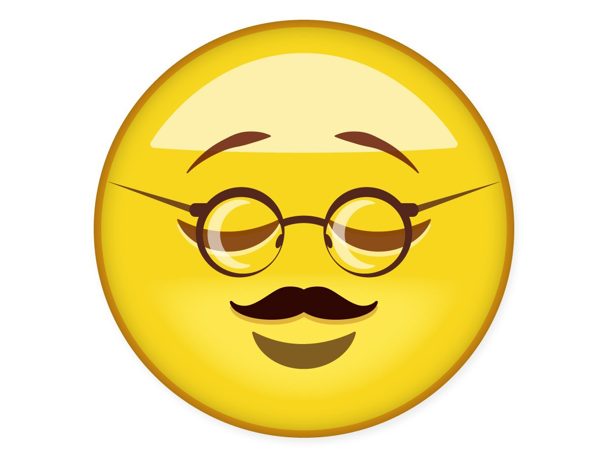 Mustache Emoticon