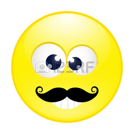 450x450 Yellow Cheerful Emoticon With Big Eyes, Smile Royalty Free