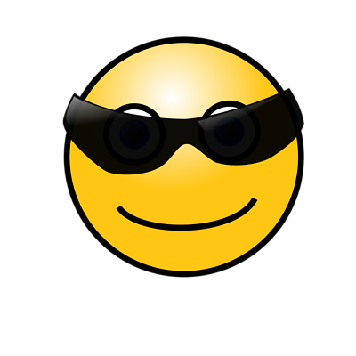 400x400 cool smiley face clipart