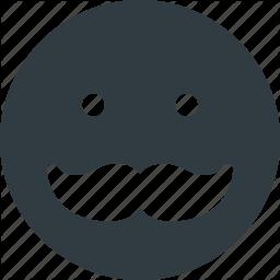 256x256 Emoji, Emote, Emoticon, Emoticons, Mustache Icon Icon Search Engine
