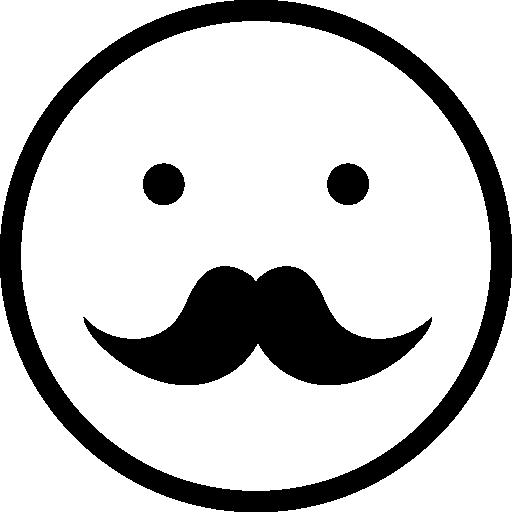 512x512 Moustache Male Face Emoticon Symbol