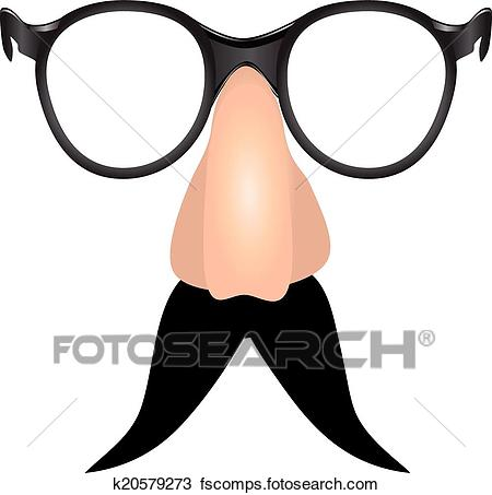 450x453 Clipart Of Drooping Mustache K20579273
