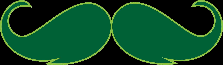 2717x792 Green Mustache Clip Art