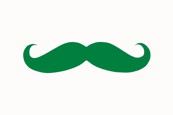 600x400 Green Mustache Clip Art