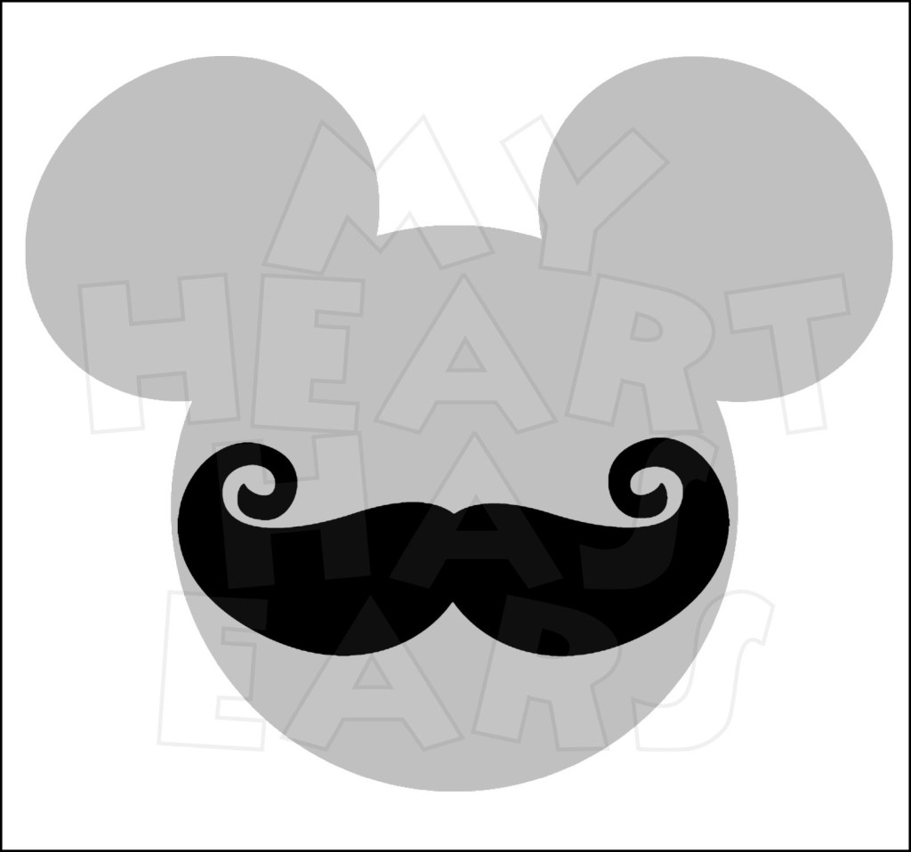 1024x958 Mickey Mouse Head With Mustache Instant Download Digital Clip Art