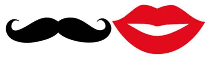 702x202 Mustache And Lips Clipart
