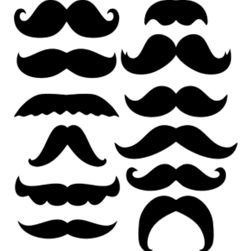 840x840 Mustache Clip Art Free The Art Evangelist