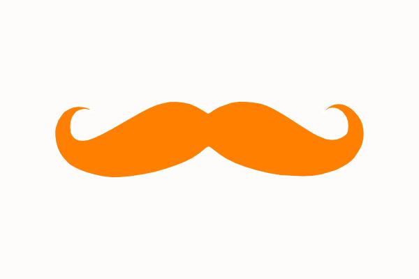 600x400 Orange Mustache Clip Art