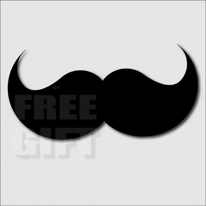 690x690 Party Mustache Rainbow Digital Clip Art Scrapbook And Digift