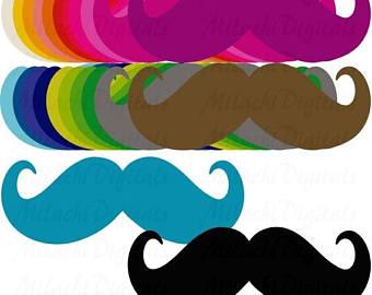 340x270 Printable Mustache Etsy