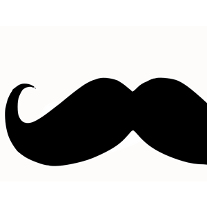 300x300 Mustache Curly Clipart, Cliparts Of Mustache Curly Free Download