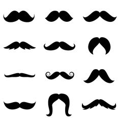236x236 Mustache Template Free Printable Stenciled Drop Cloth Pillow